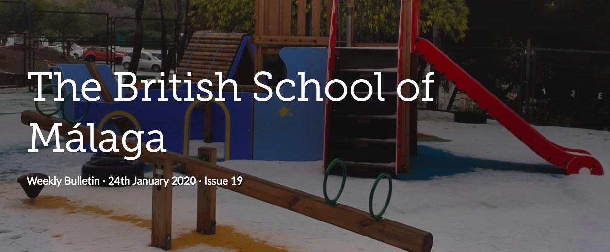 British School Málaga Boletín Semanal